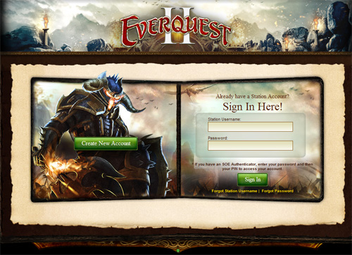 everquest 2 login