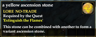 yellow ascension stone